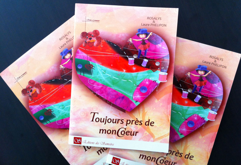 Toujours près de mon coeur - preview of the book, cover