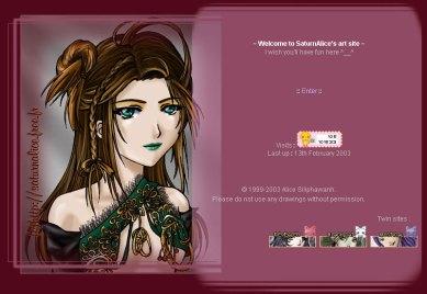 SaturnAlice's art site - 2003-02