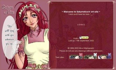 SaturnAlice's art site - 2003-09