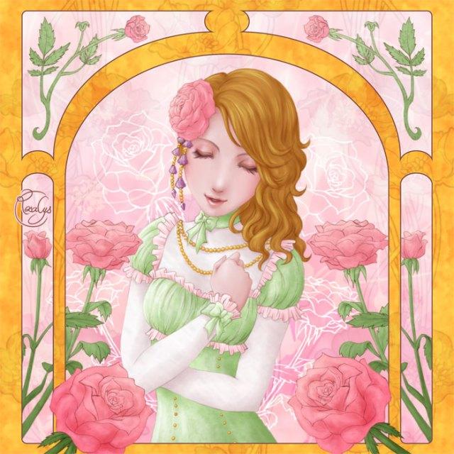 Language of flowers - Rose rose, amour véritable
