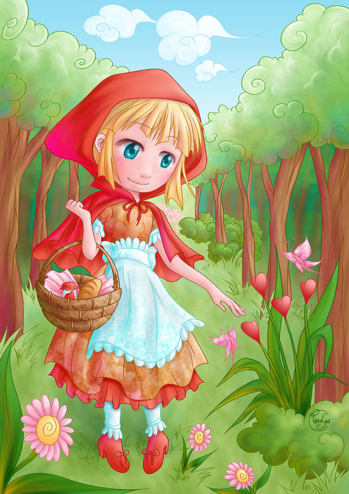Little red riding hood rosalys artist - Dessin chaperon rouge ...