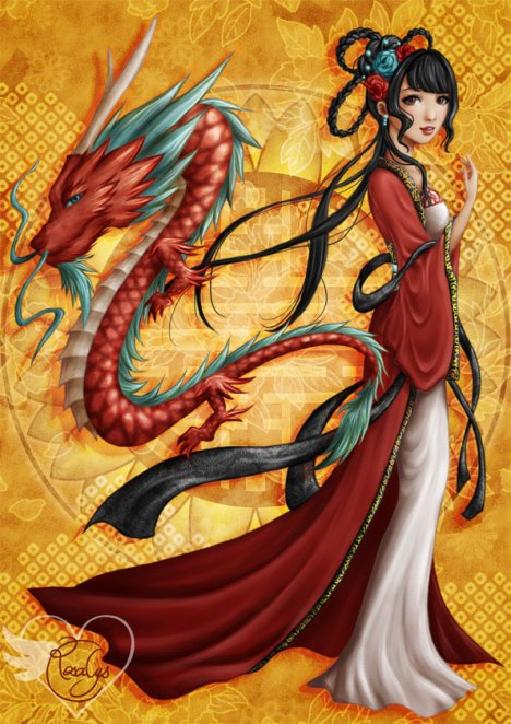 Chinese dragon [print]