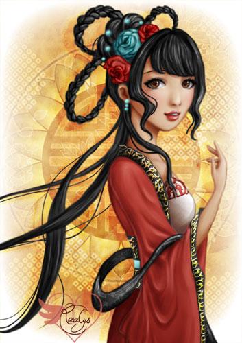 Chinese dragon - closeup [print]