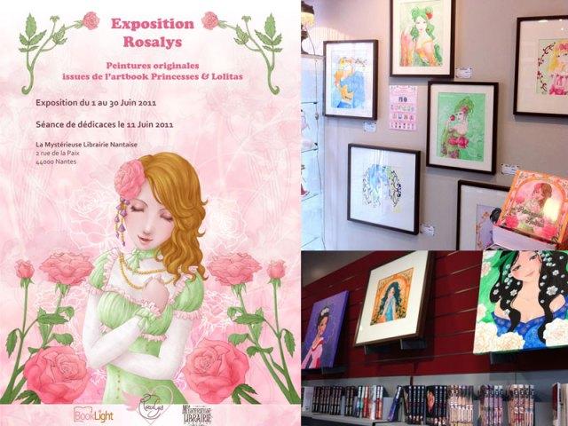 """2011 - Exhibition Rosalys """"Princesses & Lolitas"""" (La Mystérieuse Librairie Nantaise, Nantes, FRANCE)"""