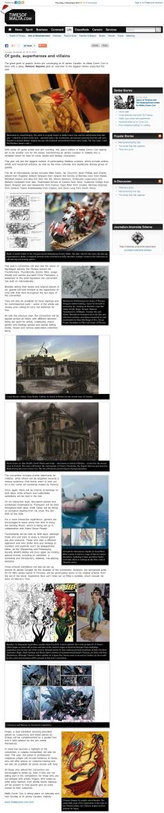Times of Malta : Journal, version web (EN) 2013