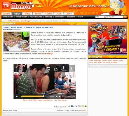 Uni - Press - Article in Total manga