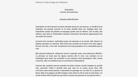 Fanfiction de Fraisie la magie de la pâtisserie par Gwladys Sarie