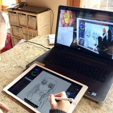 Mon tutoriel de dessin suivi : Miss nihon no pan sur iPad Pro par Lysia