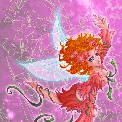 Flight of a fairy