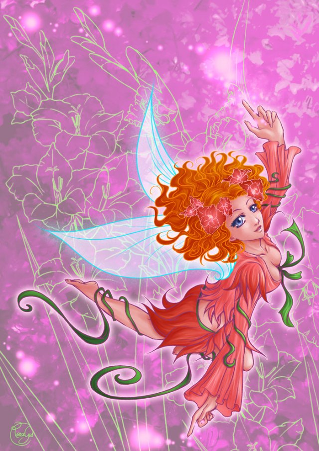 Flight of a fairy