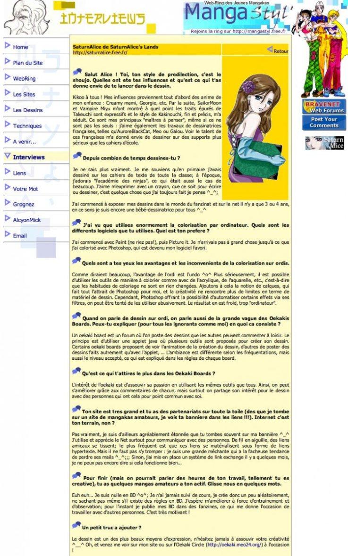 MangaStyl : Site artistique (FR) 2003