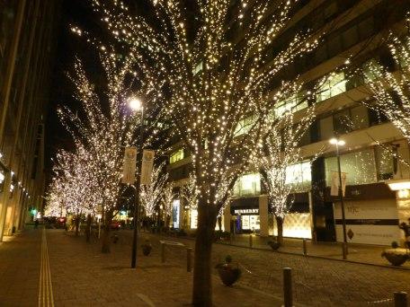 Les illuminations à Yurakuchô