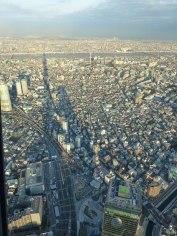 L'ombre du Tôkyô Skytree vu depuis le haut de la tour elle-même