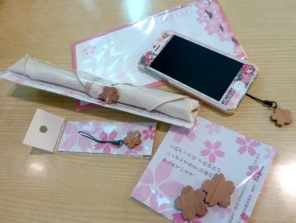 Goods made from a centenary sakura tree of Chiyoda