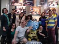 My class and the mascot of Ikebukuro bôsaikan ^^