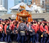 Mikoshi carried by women