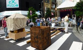 End of Mikoshi parade at Akihabara