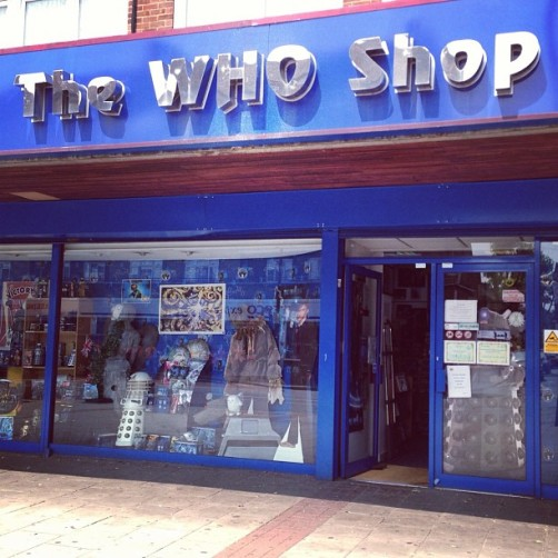 The Who Shop... ‪#‎DoctorWho‬ ‪#‎faraway‬ http://instagram.com/p/btsJYSO33P/