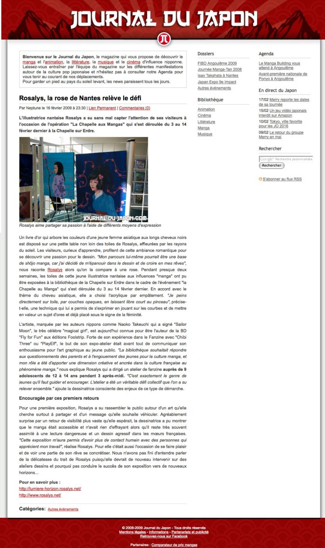 Journal du Japon : Magazine web (FR) 2009