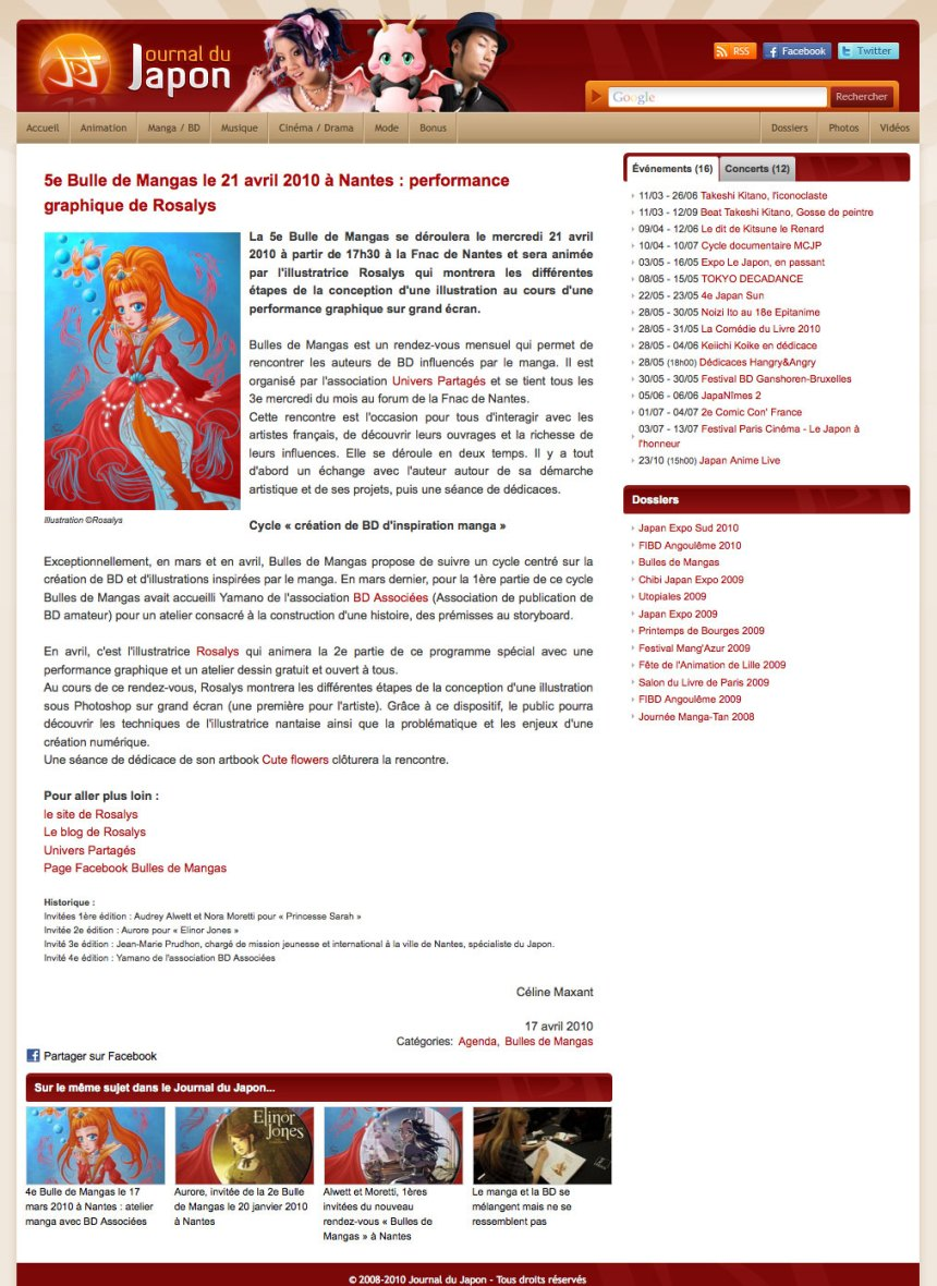 Journal du Japon : Magazine web (FR) 2010