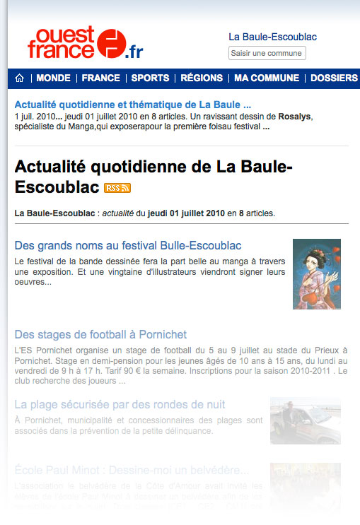 Ouest-France : Journal, version web (FR) 2010