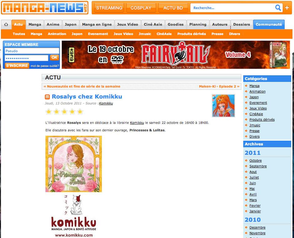 Manga-news : Magazine web (FR) 2011