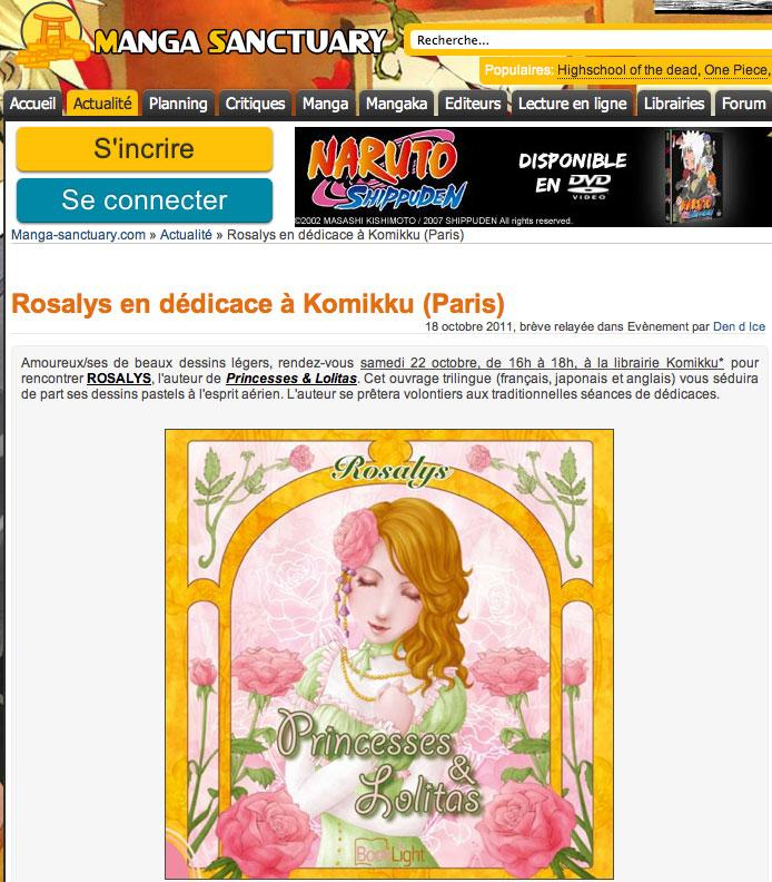 Manga Sanctuary : Magazine web (FR) 2011