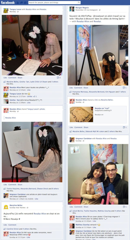 Photos de fans sur facebook (FR) 2012