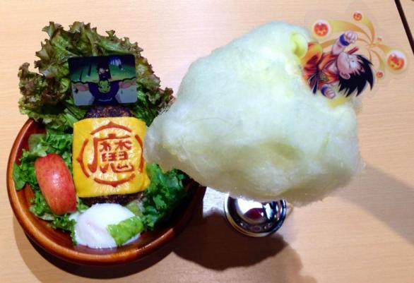 Repas Dragonball Z : Piccolo locomoco & barbe à papa Kinto-un (nuage magiiiique) #dragonball #dragonballz #food #anime #jworld #tokyo #東京 #japon #japan #日本