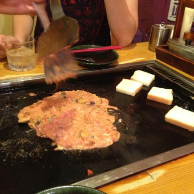 ナストマチーズもんじゃ! — at さくら亭.
