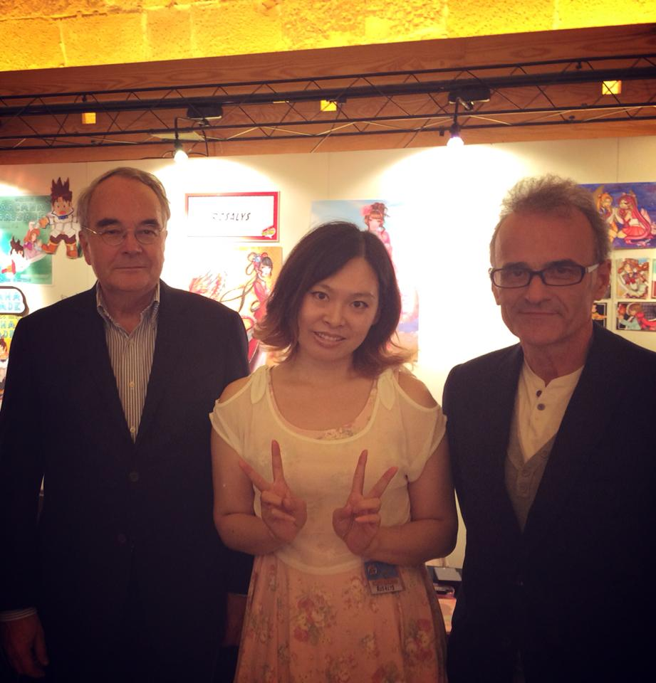 With the Ambassador of France and his cultural adviser