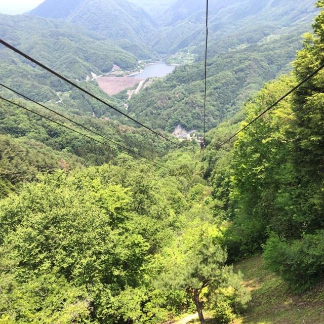 昇仙峡ロープウェイ。After riding Shōsenkyō Ropeway *o* #funiculaire