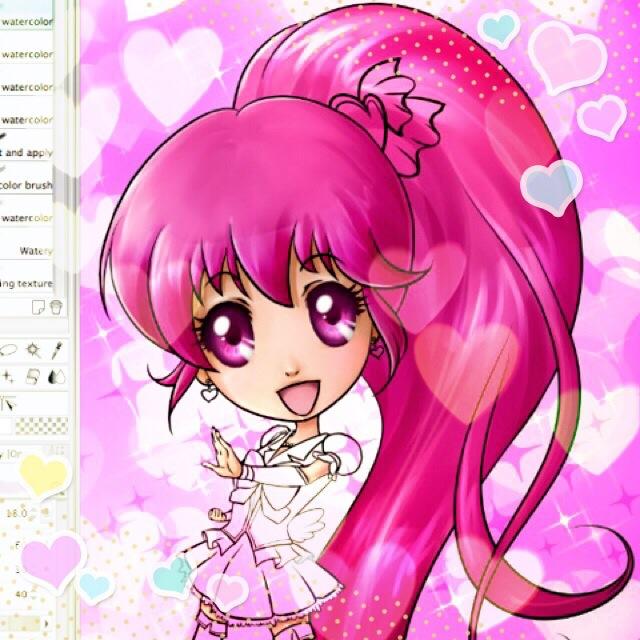 FR EN 日本語 Une fois encore, je suis servie en longue chevelure rose ! Once again, I'm painting long pink hair! 今回も、長いピンクの髪を彩っています!