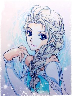 エルサ。 Elsa (Frozen) (La reine des neiges)