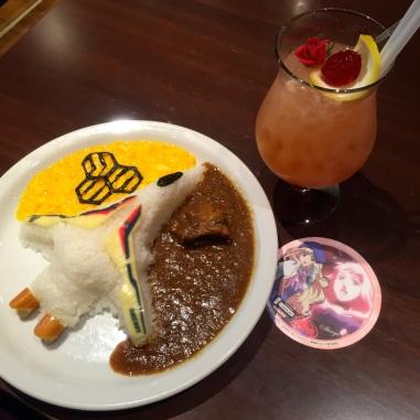 バルキリーカレーと銀河の妖精ドリンク ~ Valkyrie curry & Galactic Fairy drink