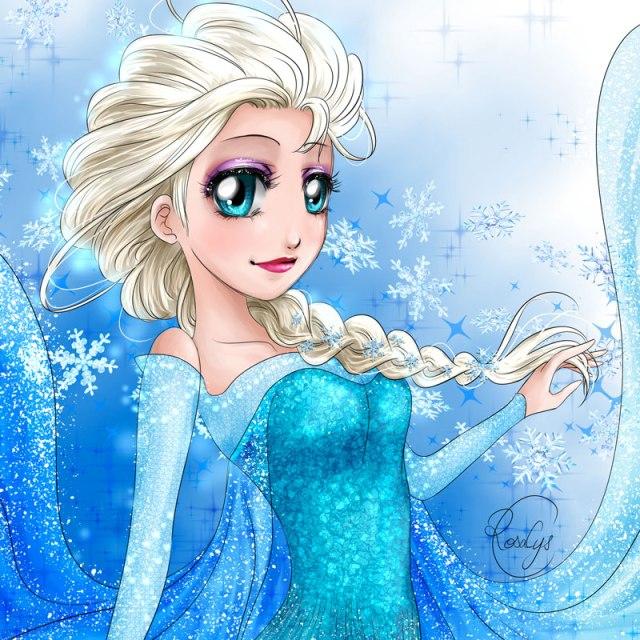 elsafrozen la reine des neiges rosalys artist