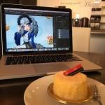 #Design #voyage #patisserie Tout à la fois 😋 #workaholic #mypace #Kobe #Miu 出張中でスイーツを楽しみつつ、新本のデザインに仕事しています〜 #神戸 #美侑