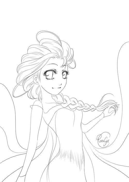 Coloriage Frozen Elsa.Goodies Automne 2015 Coloriage Elsa La Reine Des Neiges