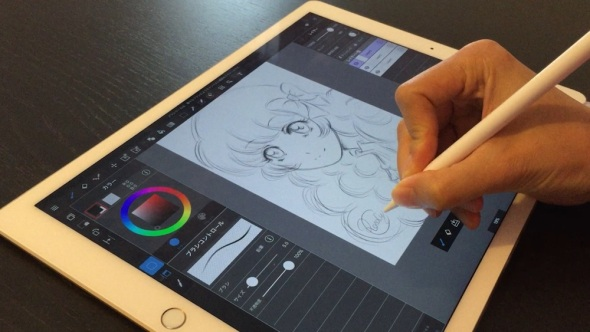 ipad-pro-apple-pencil-first-illustration-test-app-medibang-paint
