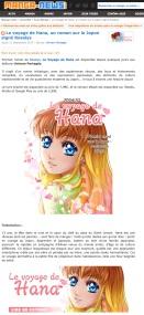 Manga-news - Le voyage de Hana tome 1 - 2017