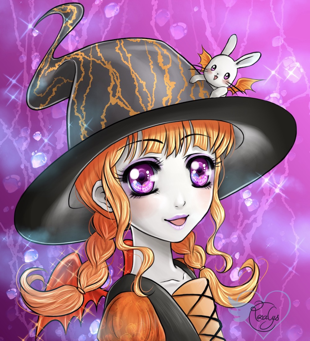 Miss Halloween & bunny